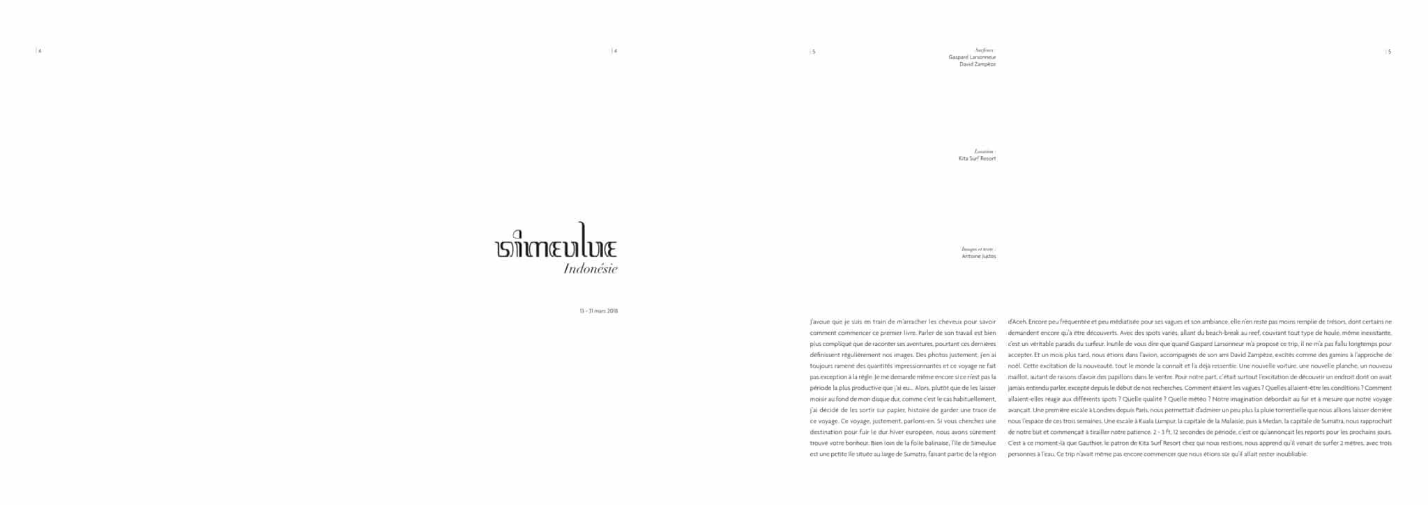 Pages 4 et 5, introduction.