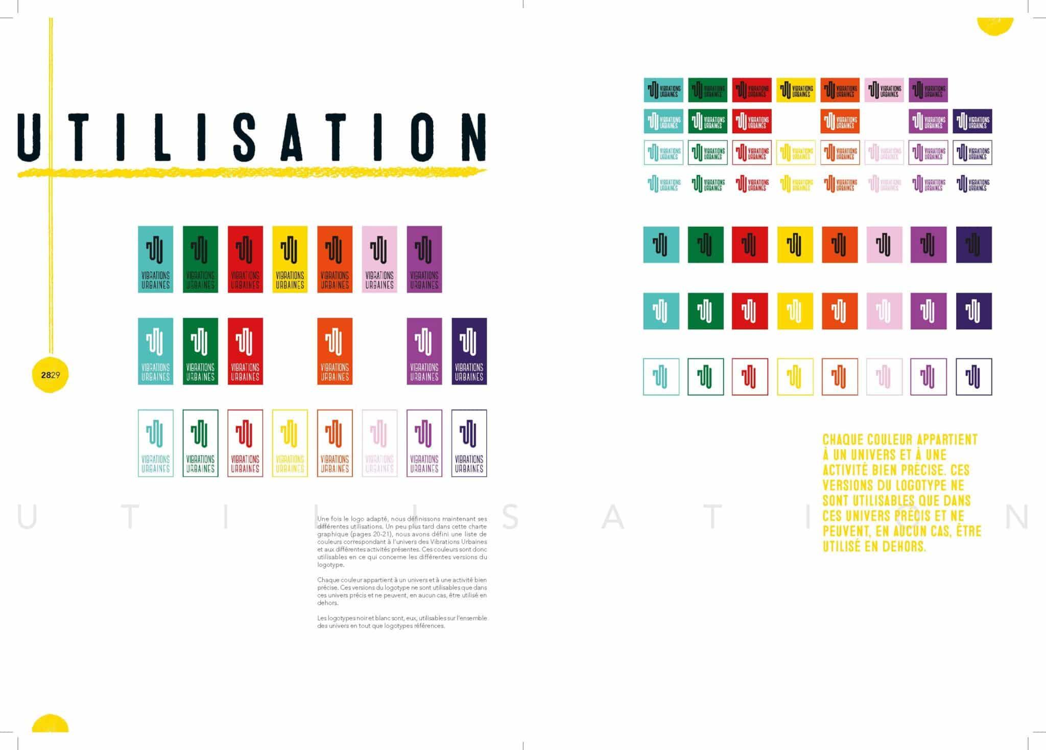 Présentation des déclinaisons du nouveau logo des Vibrations Urbaines.